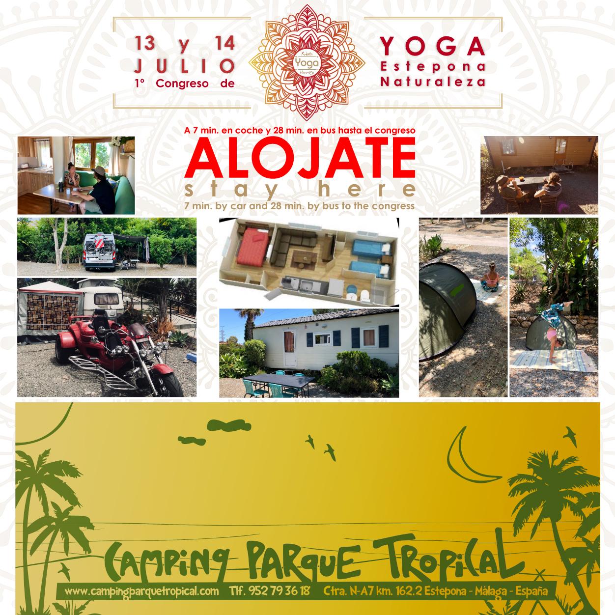 Camping tropical yogaesteponanaturaleza