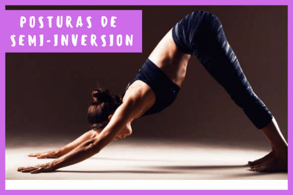 Posturas de Yoga semi-inversion