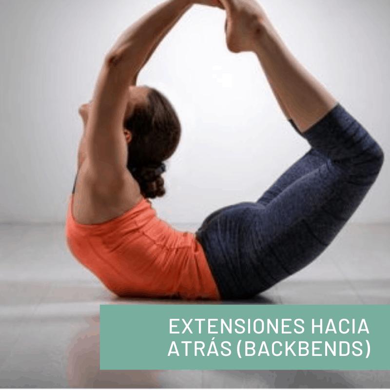 Posturas de yoga Extensiones Hacia Atrás