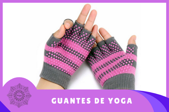 guantes de yoga antideslizantes rosas