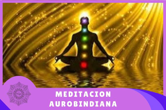 figura realizando meditación aurobindiana