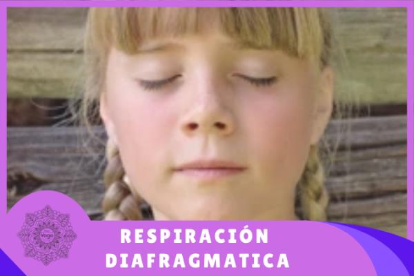 niña respirando con el diafragma