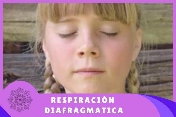 niña practicando respiración diafragmática
