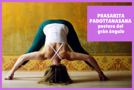 yogui haciendo PRASARITA PADOTTANASANA la postura del grán ángulo