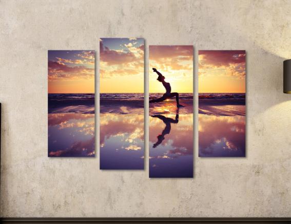 cuadro yogui haciendo yoga