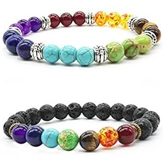pulseras de yoga de colores